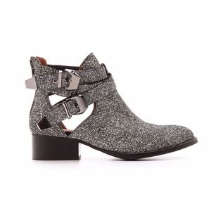 Jeffrey Campbell Cutout Speckled Leather Bootie